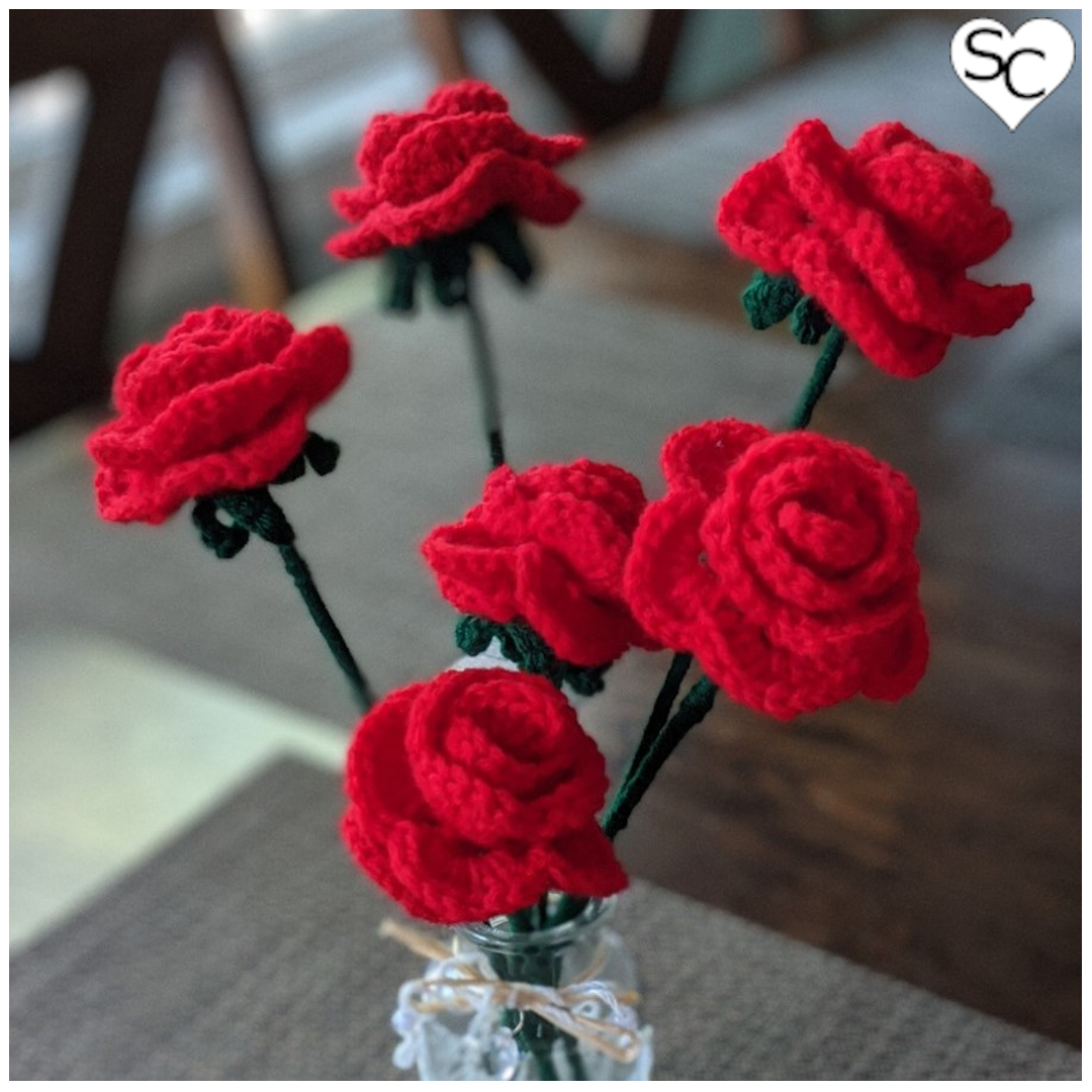 Six Single Stem Roses